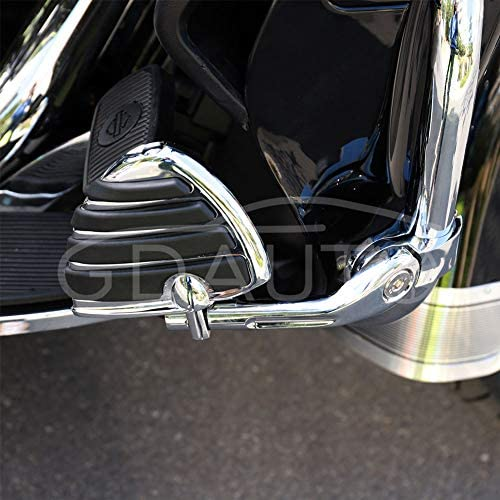 Motorcycle Footpegs Foot Rest Highway Pegs Foot pegs(Chrome) for Harley Road King Street Glide Suzuki Yamaha Honda Kawasaki Engine Guard: Automotive