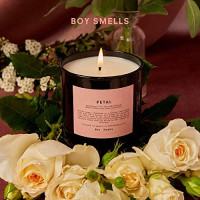 Boy Smells Petal Candle | 50 Hour Long Burning Candles | All Natural Beeswax & Coconut Wax Candle | Luxury Scented Candles (8.5 oz): Home & Kitchen