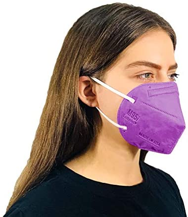 M95 Disposable 5-Layer 95% Filtration Efficiency Face Mask Protective 5-Ply Design Made in USA 5 Units/Bag (Obsidian Black)