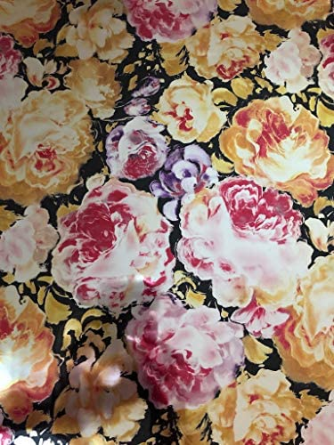 "Metallic Foil - Baylee Flowers - Decorative Trasfer Roll 12"" x 15'"