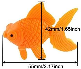 XMHF Aquarium Fish Bowl Tank Artificial Floating Plastic Orange Decor Goldfish Ornament Fish Tank Decoration 10PCS: Furniture & Decor