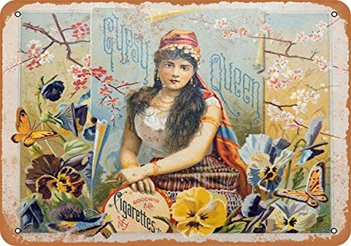 Wall-Color 9 x 12 Metal Sign - Gypsy Queen Cigars - Vintage Look: Home & Kitchen