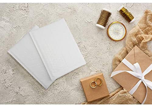 6x10 Inch Poly Bubble Mailers, Padded Envelopes 25Pcs Self Sealing Mailers Shipping Envelopes Waterproof Bubble Mailers (White) : Office Products