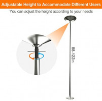 AolliePawer 45mm Upgraded Portable Dance Pole for Beginner and Professional Tripper, Large Adjustable Height, Removable Spinning and Static Dancing Pole for Home, Fitness Club, Bar Party : Sports & Outdoors