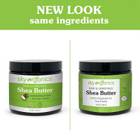 Shea Butter by Sky Organics (16 oz) 100% Pure Unrefined Raw African Shea Butter for Face and Body Moisturizing Natural Body Butter for Dry Skin : Beauty