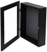 Golden State Art, Shadow Box Frame Display Case, 2-inch Depth, Great for Collages, Collections, Mementos (8x10.5, Black)