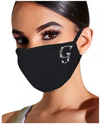 Sparkly Christmas Face_Mask for Women Bling Rhinestone Diamond Reusable Washable Cloth Face Bandana Protection for Adult: Clothing