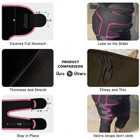 MIZATTO Waist Trainer for Women, 3 in 1 Neoprene Full Body Workout Sweat Belt Thigh Trimmer: Clothing