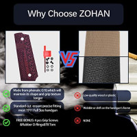 ZOHAN 1911 G10 Grips Full Size Government/Commander Ambi Safety Cut - Screws Included - Texture Pistol Grips (Black) : Sports & Outdoors