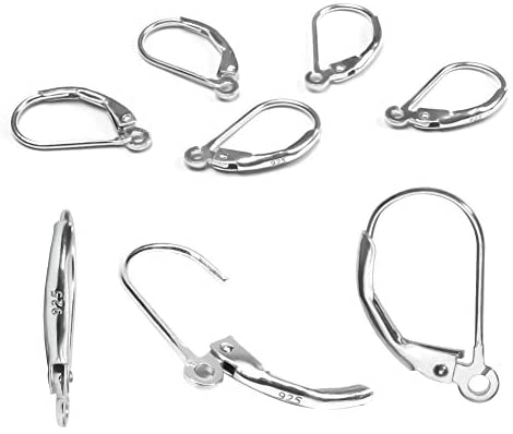 TOAOB 8pcs 925 Sterling Silver Leverback French Earring Hooks Hypoallergenic Dangle Earwire Findings for Jewelry Making