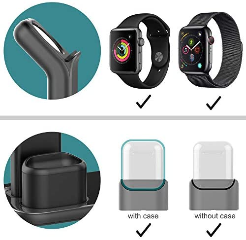 Beacoo Upgraded 3 in 1 Charging Stand for iWatch Series 5/4/3/2/1, Charging Station Dock Compatible with Airpods Pro/1/2 iPhone 11/pro/max/Xs/X Max/XR/X/8/8Plus/7/6S(Charger & Cables Required)