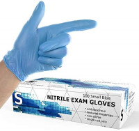 Powder Free Disposable Nitrile Gloves Medium - 100 Pack, Blue - Latex Free, Food Safe Gloves - Medical Exam Gloves, Cleaning Gloves - 3 Mil Thick Extra Stretch: Health & Personal Care