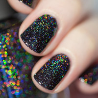 ILNP Cityscape - TRUE Black Holographic Jelly Nail Polish, High Gloss and Sparkle, Long Lasting, Chip Resistant Manicure, Non-Toxic, Vegan, Cruelty Free, 12ml : Beauty