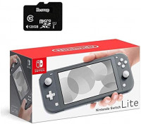 "Newest Nintendo Switch Lite Game Console, 5.5"" LCD Touchscreen Display, Built-in Plus Control Pad, W/Hesvap 128GB Micro SD Card, Built-in Speakers, 3.5mm Audio Jack (Gray) : Computers & Accessories"