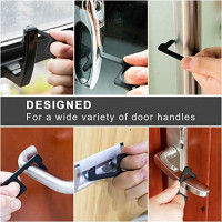 Whaline 4 Pcs NoTouch Door Opener and 4 Pcs Stretchable Keychain Elevator Press Stick Zero Touch Reusable Handle Tools for Outdoor Public Door Handle Touchscreen Button Keep Hands Clean