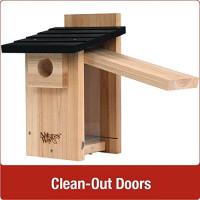 Nature's Way Bird Products CWH4 Cedar Bluebird Viewing House : Wild Bird House : Garden & Outdoor