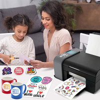 JOYEZA Premium Printable Vinyl Sticker Paper for Inkjet Printer 20 Sheets Glossy White Waterproof, Dries Quickly Vivid Colors, Holds Ink well- Tear Resistant - Inkjet & Laser Printer : Office Products