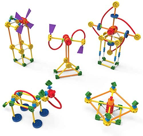 K'NEX TINKERTOY - Classic Building Tin - 100 Parts - Collectible Tin - Ages 3+: Toys & Games