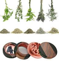 CigaMaTe Grinder Wooden Herb Grinder 2.5 Inch Splicing Color Personalized Grinders (Green): Kitchen & Dining
