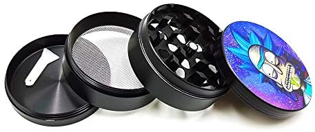 "Grinder Zinc Alloy 4 Piece Crusher 2.4"" Large Size Grinder for Pepper Spice Herb Amazing R and M Design: Kitchen & Dining"