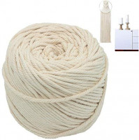 Macrame Cord 3mm 109 Yard 100% Natural Cotton Wall Hanging Plant Hanger Craft Making Knitting Cord Rope 109 yd (3mm): Arts, Crafts & Sewing