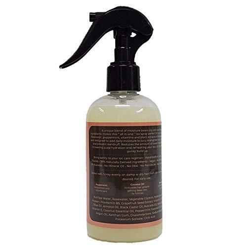 Locsanity Rosewater & Peppermint Daily Moisturizing Spray Dreadlock, Sisterlocks, Microlocks, Locs Fine Mist: Handmade