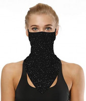 Neck Gaiter with Earloop Face Cover Mask, Sun Face Scarf Mask Bandana for Women Man Balaclava-Fishing Cycling Motorcycle at Men's Clothing store