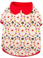 "Blueberry Pet Garden Flower Peter Pan Collar Cotton Dog Shirt, Back Length 14"", Pack of 1 Clothes for Dogs : Pet Supplies"