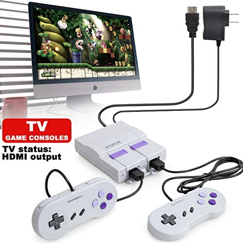 Classic Game Consoles HD Retro Game Console with Built-in 821 NES Games and 2 Classic Controller,HDMI HD Output,Children Gift,Birthday Gift Happy Child Memories,Childhood Classic Game HDMI HD DISPLAY: Toys & Games