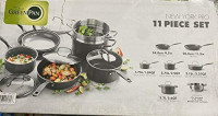 GreenPan New York Pro Ceramic Nonstick Cookware 11-Piece Set: Kitchen & Dining