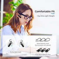 Bluetooth Earpiece, Mpow EM19 Bluetooth Headset 5.0 600Hrs Standby Time 20Hrs Handsfree Earpiece for Cell Phone CVC 6.0 Noise Cancelling Mic for iPhone Android Trucker Driver, Classic Black: Electronics