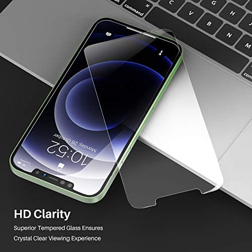 TOZO Compatible for iPhone 12 Mini Screen Protector 3 Pack Premium Tempered Glass 0.26mm 9H Hardness 2.5D Film Super Easy 5.4 inch