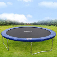 ORCC Trampoline 15 14 12 10ft Outdoor Trampoline Weight Capacity 400LBS for Kids Adults with Safety Enclosure Net Wind Stakes Rain Cover and T-Hook, Backyard Trampoline for Family : Sports & Outdoors