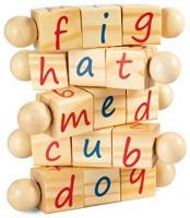 MerryHeart Wooden Montessori Reading Blocks, Phonetic Alphabet Blocks for Kids, Eco-Friendly Toys, Educational Learning Games for Pre-Kindergarten: Furniture & Decor