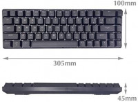 New 60% Mechanical Keyboard, RGB LED Backlit Wired Gaming Keyboard, Ergonomic, for PC/Mac Gamer, Typist: Computers & Accessories