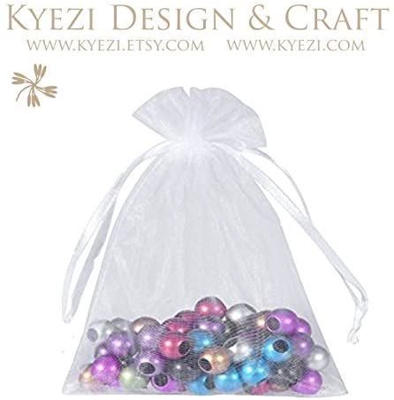 100 Pcs Mixed Colors (Chosen by Random) 3x4 Sheer Drawstring Organza Bags Jewelry Pouches Wedding Party Favor Gift Bags Gift Bags Candy Bags [Kyezi Design and Craft]: Health & Personal Care