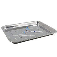 """Tattoo Stainless Steel Tray, CINRA 3 Pack 13.5"""" X 10"""" Stainless Steel Tattoo Trays Dental Medical Tray Body Piercing Instrument Tray Flat Tool for Tattoo Supplies, Tattoo Kits : Beauty"""