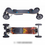 Off Road Electric Skateboard with Remote Control High Speed 25 MPH Motorized Mountain Longboard with Bindings for Cruising Four-wheeled