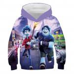 Children's Clothing Animation 3D Digital Printing Casual Hooded Children's Clothing Sweater