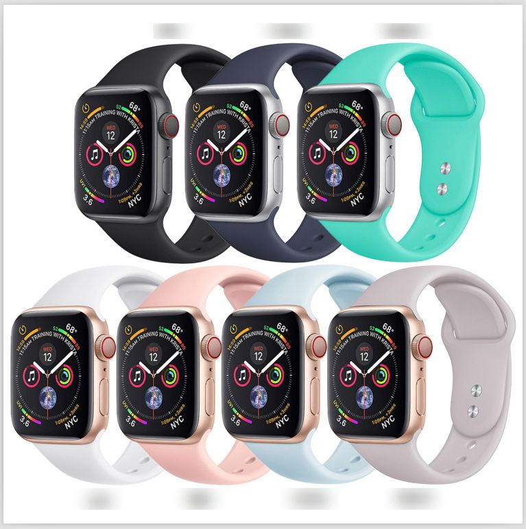 Silicone Replacement Sport Strap Compatible with Watch Band 38MM 42MM 40MM 44MM