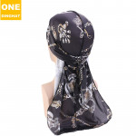 Hat Imitation Silk Printing Long Tail Pirate Hat Cape SILKY DURAGS