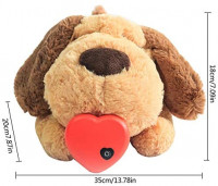 Puppy Heartbeat Toy - Puppy Snuggle Plush Toy with Heartbeat and Warmer Bag - Microwaveable Hot Toy - Puppy Behavioral Training Aid Toy - Pet Anxiety Relief Sleep Aid Plush Toy for Smart Dogs Cats: Home & Kitchen
