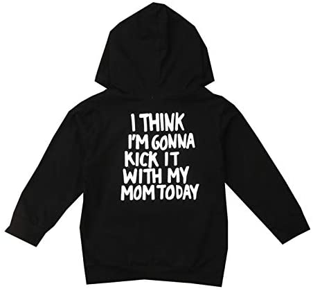 1Pc Infant Letter Print Hoodie Sweatshirt Long Sleeve Spring Fall T-Shirt Outfit for 1-6T Boys Girls: Clothing