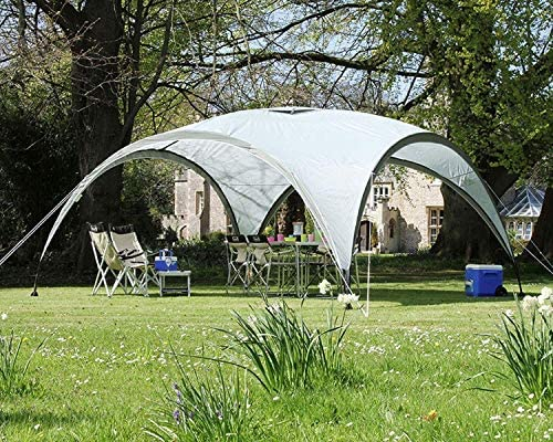 MASTERCANOPY Dome Sun Shelter, Event Shelter for Large Garden Camping, Portable Outdoor Gazebo with Sun Protection SPF 50+ (10x10, Grey) : Garden & Outdoor