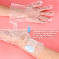 400pcs Paraffin Wax Bath Liners, Paraffin Bags for Hand & Foot, Plastic Socks And Gloves For Therabath Hot Wax Therapy Bags Covers for Paraffin Wax Machine,With 400 Sticker : Beauty