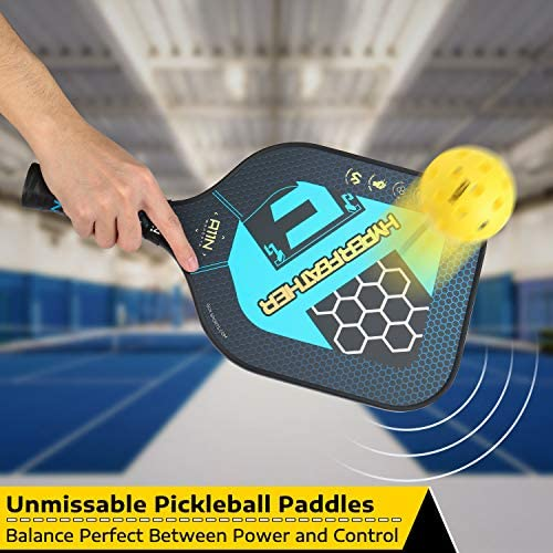 A11N HyperFeather Pickleball Paddles Set of 2 - USAPA Approved | 8OZ, Graphite Face & Polymer Core, Cushion Grip | 2 Indoor & 2 Outdoor Balls, 2 Covers, 2 Overgrips and 1 Bag : Sports & Outdoors
