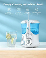 Water Flosser, Fairywill Dental Oral Irrigator for Teeth, 10 Adjustable Modes Water Pick Teeth Cleaner, 8 Water Jet Tips for Family, 600ML Water Tank, Non-Slip Base, Electric Flosser for Braces Care: Beauty