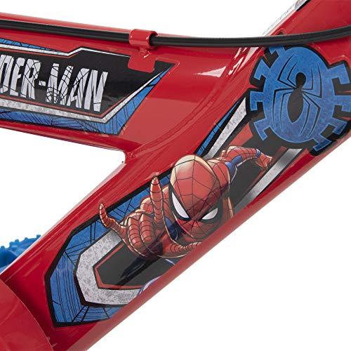 Huffy 12 inch Spider-Man Kid Bike, Handlebar Plaque, Quick Connect, Red, 12 inch : Sports & Outdoors