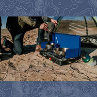 STANSPORT - Outfitter Series Portable 3-Burner Propane Camping Stove (Blue and Black) : Sports & Outdoors