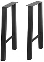 Metal Furniture Legs Cast Iron Coffee Table Legs, Industrial Black Dining Table Legs, Metal Legs for DIY Coffee Table, Rustic Heavy Duty Square Tube Desk Legs, Furniture Bench 2 Pcs(28¡±Height 24¡±Wide)